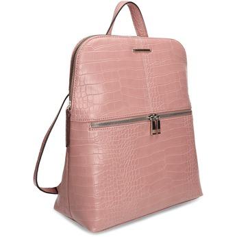 Dámský růžový batoh s imitací kůže bata-red-label, růžová, 961-4831 - 13