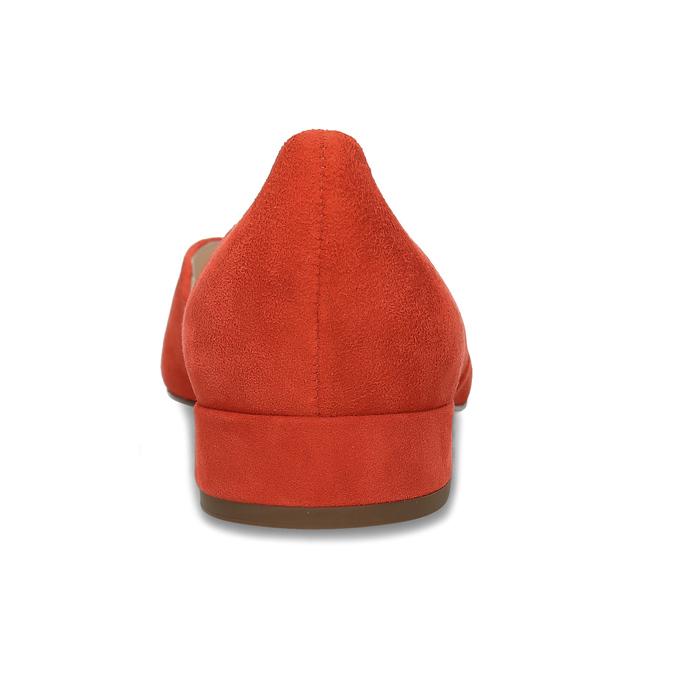 Kožené červené lodičky na nízkém podpatku hogl, červená, 623-5102 - 15
