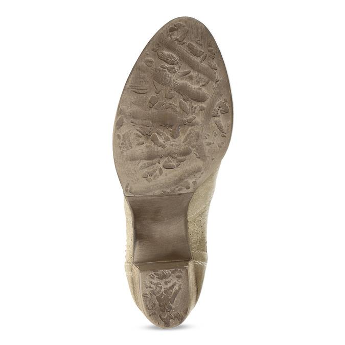 Dámské béžové kožené kotníčkové kozačky bata, béžová, 693-8604 - 18