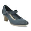 Dámské modré lodičky z broušené kůže bata, modrá, 626-9606 - 13