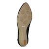 Černé kožené lodičky na přírodním klínku bata, černá, 626-6602 - 18
