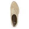 Dámské béžové kožené kotníčkové kozačky bata, béžová, 693-8604 - 17