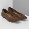 Dámské hnědé kožené mokasíny s propletením bata, hnědá, 524-4607 - 26