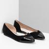 Černé dámské baleríny s vykrojením bata, černá, 529-6601 - 26