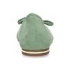 Zelené dámské baleríny s mašlí bata, zelená, 529-7602 - 15