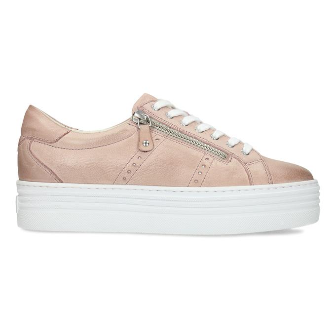 Kožené růžové tenisky na flatformě bata, růžová, 544-5602 - 19
