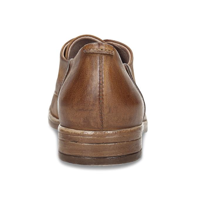Hnědé dámské kožené derby polobotky bata, hnědá, 526-4607 - 15