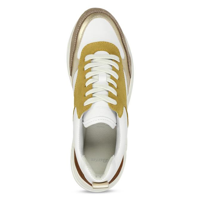 Dámské žluté tenisky městského stylu kožené bata, žlutá, 544-8602 - 17