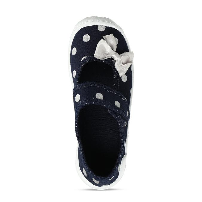 Dívčí modré přezůvky s mašlí mini-b, modrá, 379-9605 - 17
