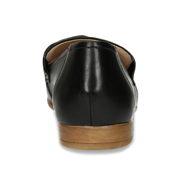 Dámské kožené černé mokasíny bata, černá, 516-6606 - 15