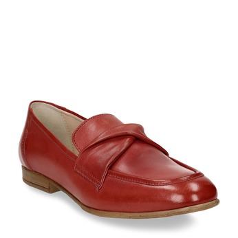 Dámské kožené červené mokasíny bata, červená, 516-5606 - 13