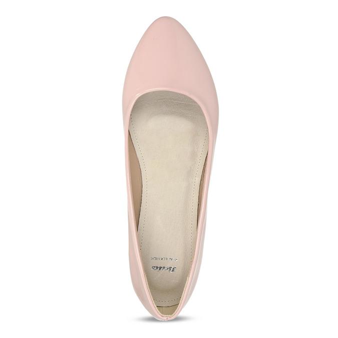 Dámské baleríny růžové bata, růžová, 521-5622 - 17