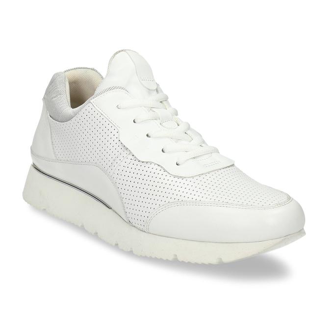 Dámské kožené bílé tenisky městského typu bata, bílá, 524-1609 - 13