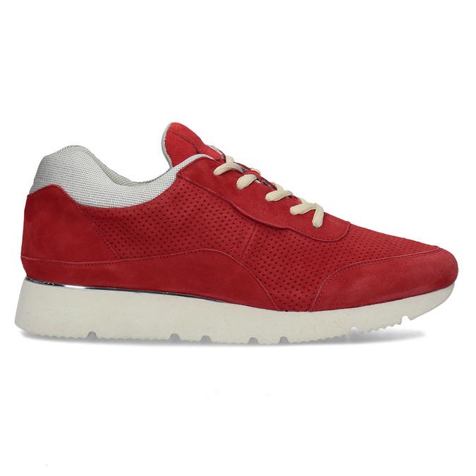 Dámské kožené červené tenisky městského typu bata, červená, 523-5609 - 19
