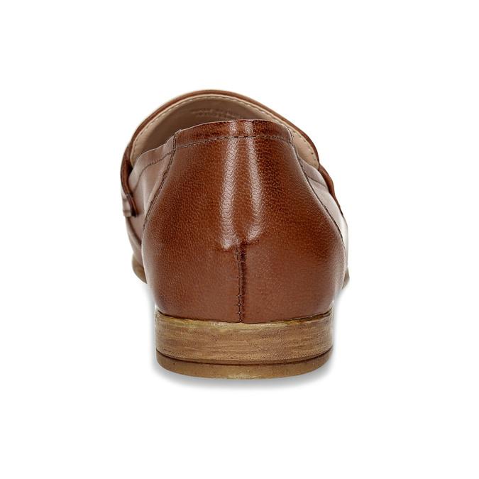 Dámské kožené hnědé mokasíny bata, hnědá, 516-4606 - 15
