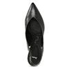 Černé kožené lodičky na jehlovém podpatku pillow-padding, černá, 624-6621 - 17
