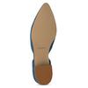 Kožené modré lodičky na nízkém podpatku bata, modrá, 523-9605 - 18