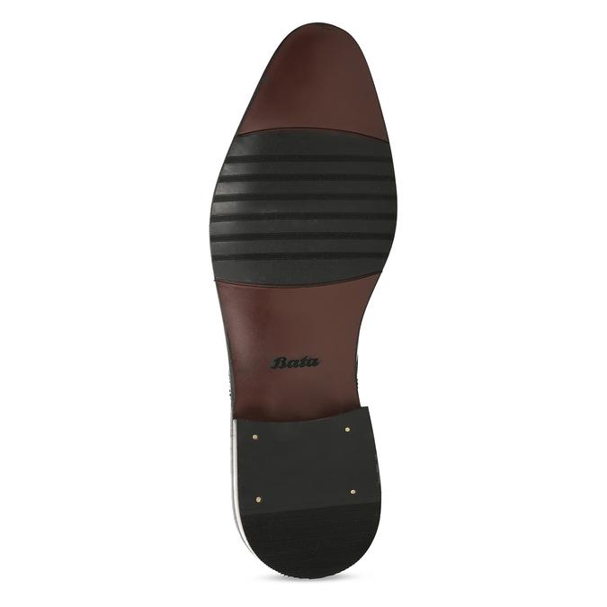 Kožené pánské polobotky černé bata, černá, 828-6611 - 18