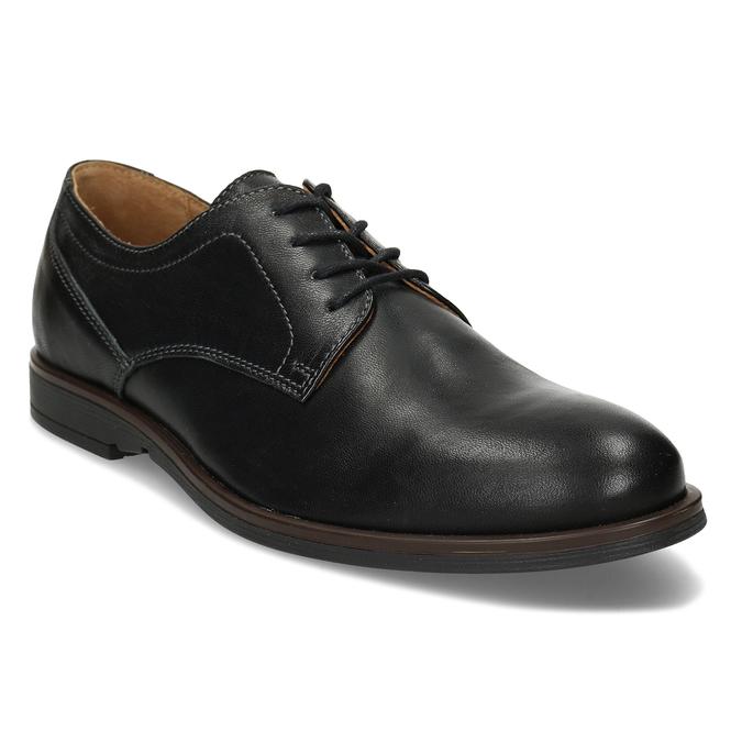 Kožené pánské černé polobotky bata, černá, 824-6693 - 13