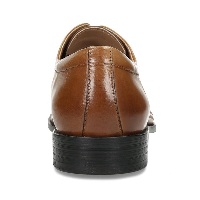 Elegantní kožené polobotky s perforací bata, hnědá, 826-3698 - 15