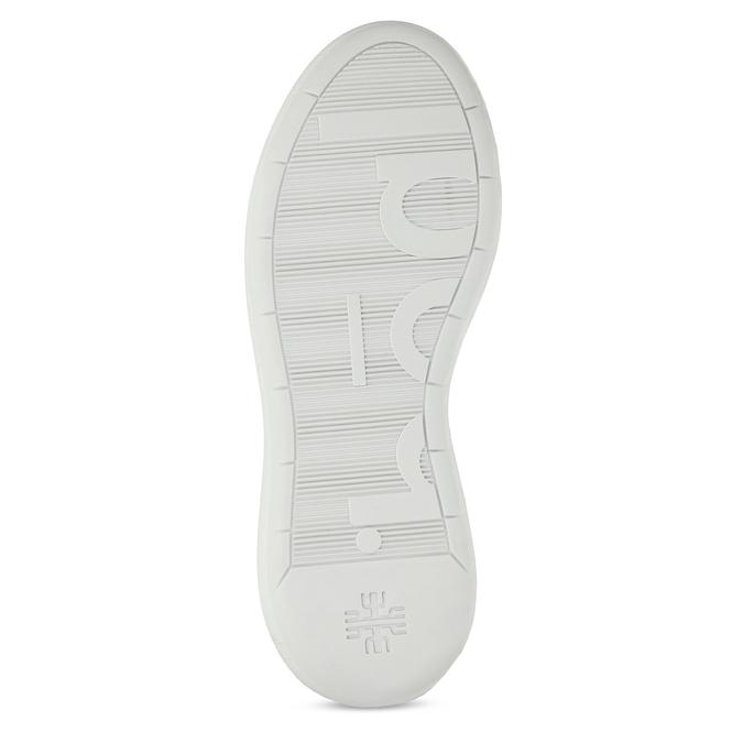 Bílé dámské kožené tenisky hogl, bílá, 544-1104 - 18