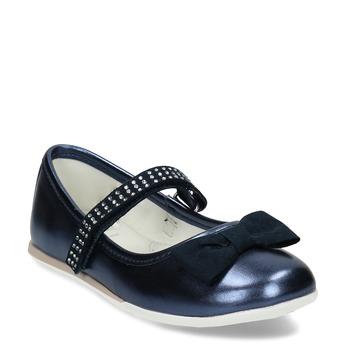 Tmavě modré dívčí baleríny mini-b, modrá, 221-9161 - 13