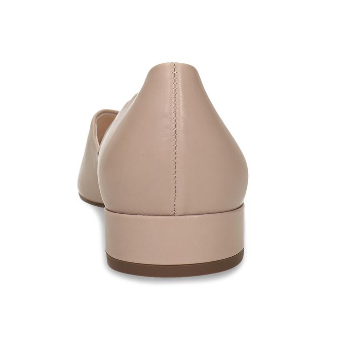 Kožené béžové lodičky na nízkém podpatku hogl, béžová, 524-8117 - 15