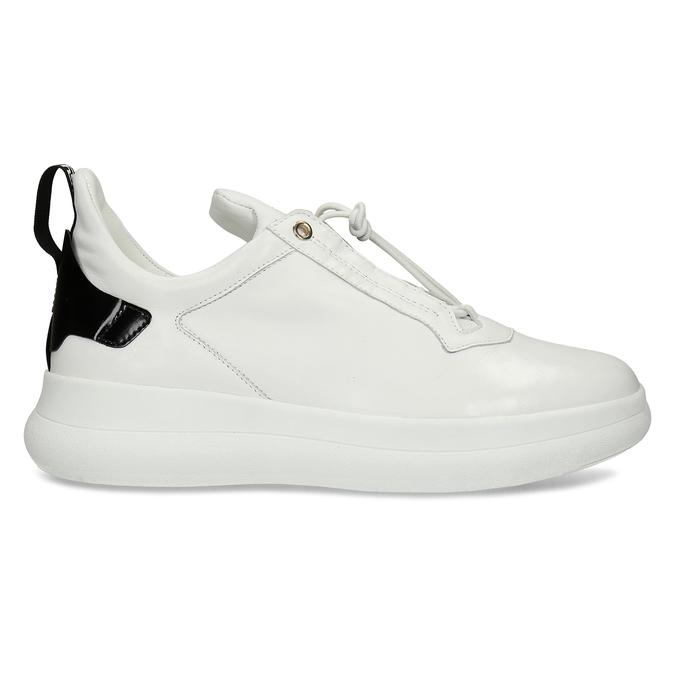 Bílé dámské kožené tenisky hogl, bílá, 544-1104 - 19