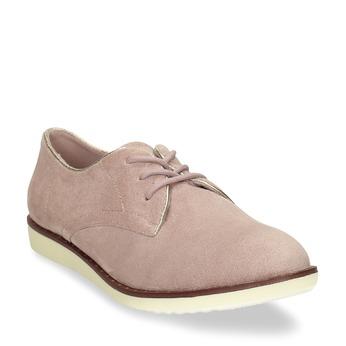 Růžové dámské polobotky bez podpatku bata, růžová, 529-5603 - 13