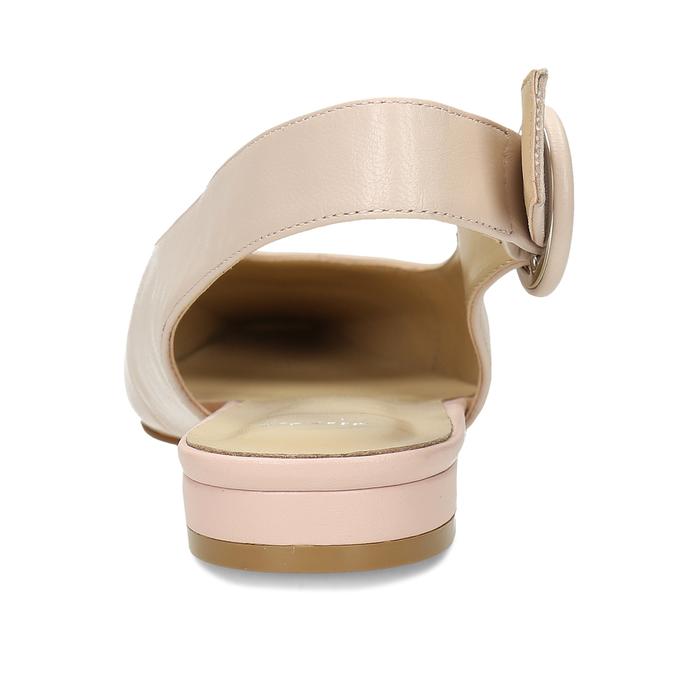 Béžové kožené baleríny s páskem bata, béžová, 524-8622 - 15