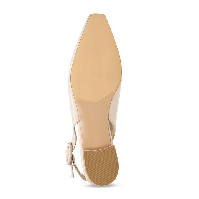 Béžové kožené baleríny s páskem bata, béžová, 524-8622 - 18