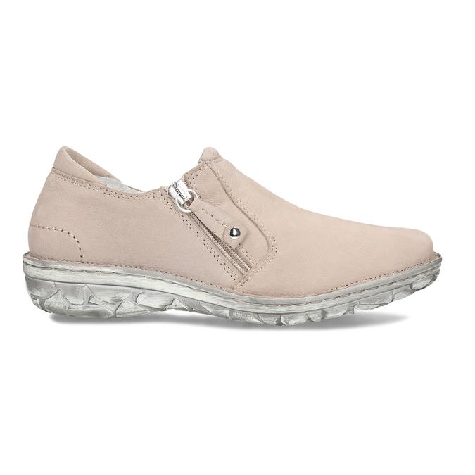 Dámská kožená béžová slip-on obuv bata, béžová, 526-8626 - 19