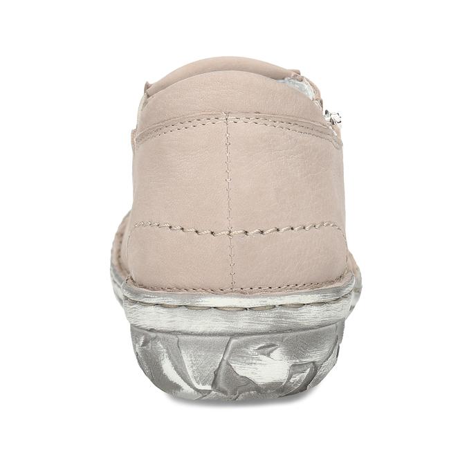 Dámská kožená béžová slip-on obuv bata, béžová, 526-8626 - 15