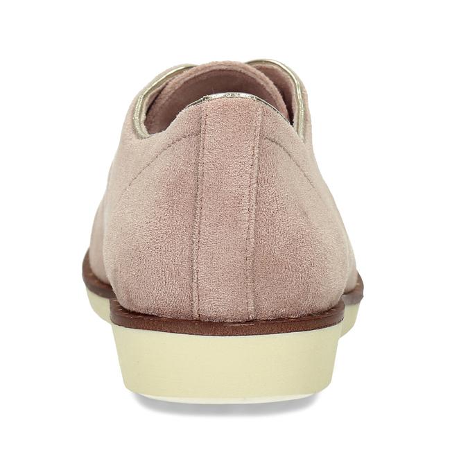 Růžové dámské polobotky bez podpatku bata, růžová, 529-5603 - 15