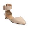 Béžové kožené baleríny s páskem bata, béžová, 524-8624 - 13