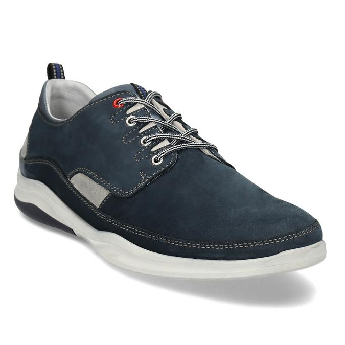 Pánské tmavě modré kožené tenisky bata, modrá, 846-9604 - 13