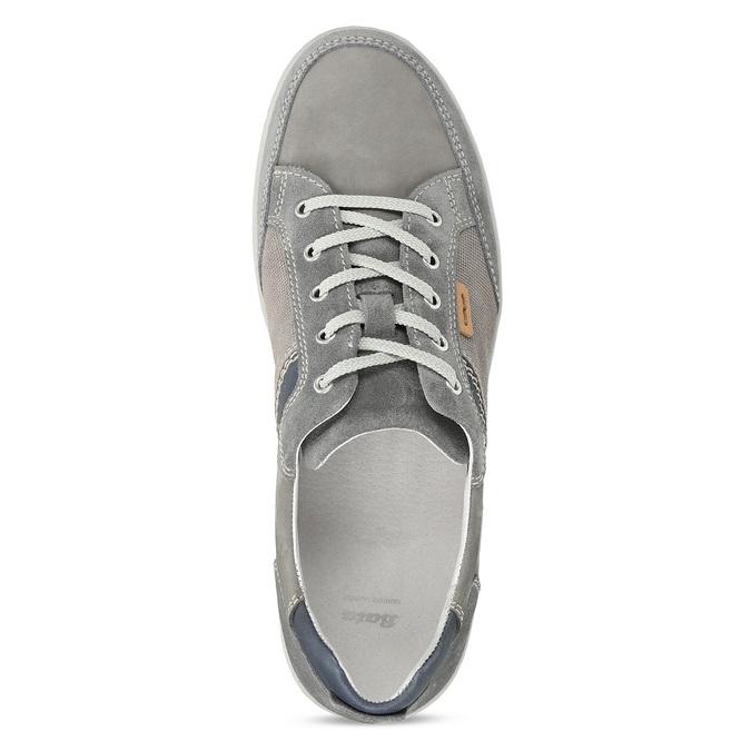 Šedé pánské kožené ležérní tenisky bata, šedá, 846-2603 - 17