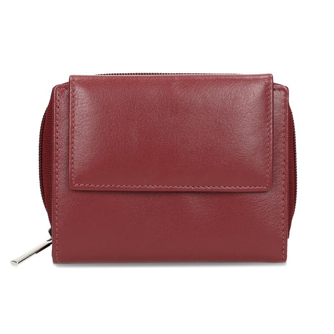 Červená dámská kožená peněženka bata, červená, 944-5634 - 26