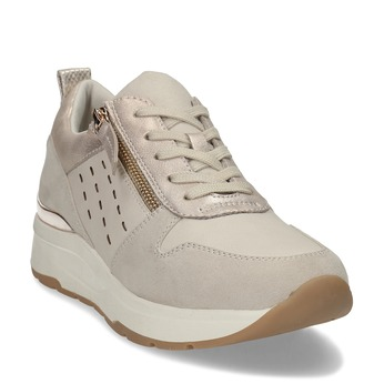 Dámské béžové tenisky se zipem bata, béžová, 541-8613 - 13