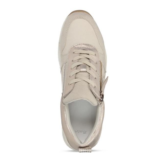 Dámské béžové tenisky se zipem bata, béžová, 541-8613 - 17
