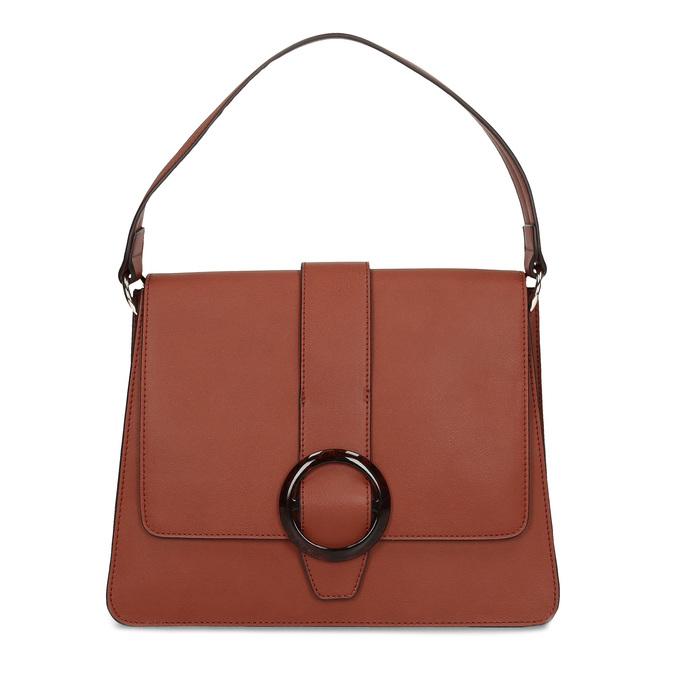 Dámská kabelka s kulatou sponou bata-red-label, hnědá, 961-5838 - 26