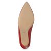 Červené kožené lodičky na jehlovém podpatku bata, červená, 724-5606 - 18