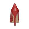 Červené kožené lodičky na jehlovém podpatku bata, červená, 724-5606 - 15