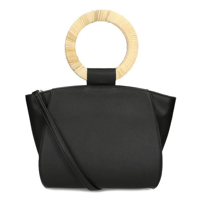 Dámská černá kabelka s kulatými uchy bata-red-label, černá, 961-6841 - 16