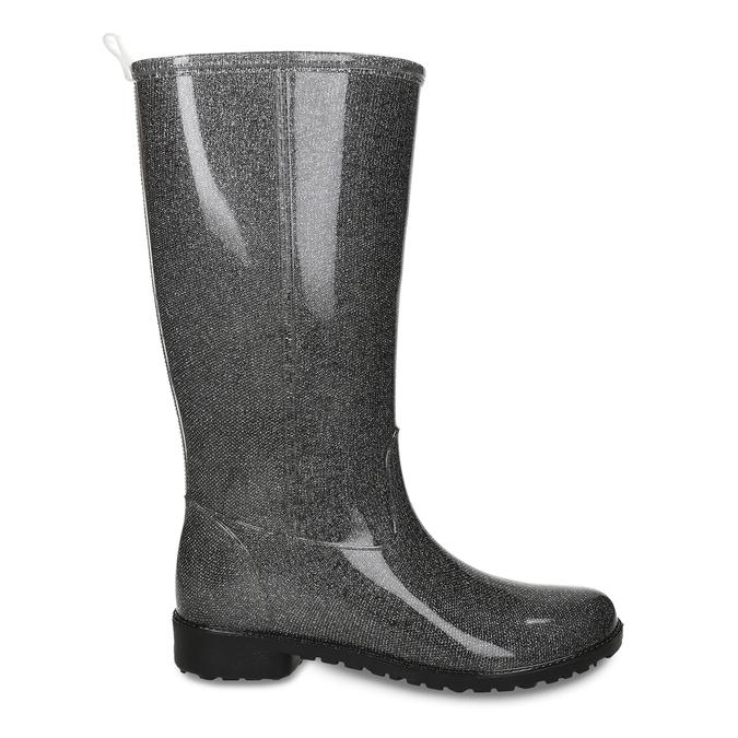 Dámské vysoké holínky bata, stříbrná, 592-1611 - 19