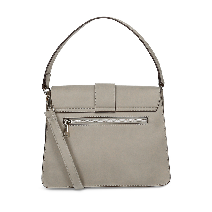 Šedá dámská kabelka s přezkou bata-red-label, šedá, 961-2838 - 16