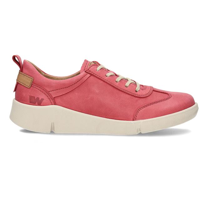 Dámské kožené červené tenisky městského stylu weinbrenner, červená, 544-5611 - 19