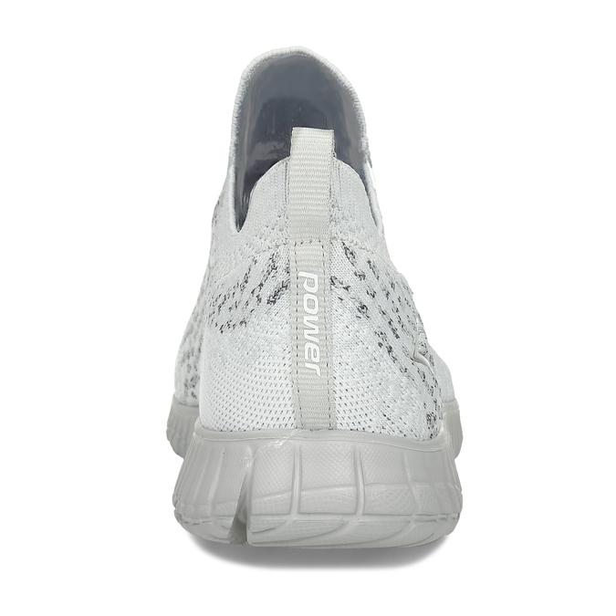 Šedobílé pánské tenisky s pleteným svrškem power, šedá, 809-2521 - 15