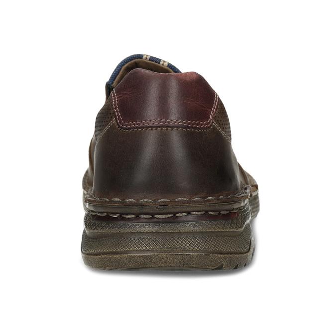 Hnědé pánské kožené mokasíny na hrubé podešvi bata, hnědá, 836-3600 - 15