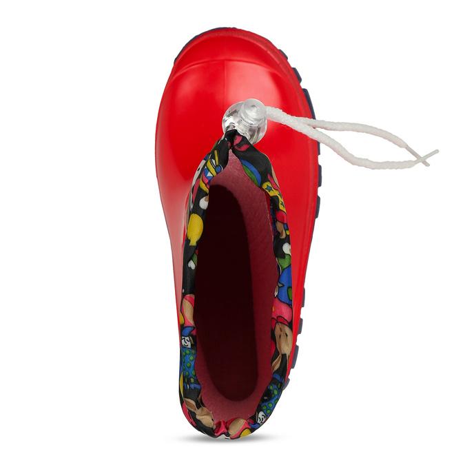 Dětské červené holínky mini-b, červená, 192-5610 - 17